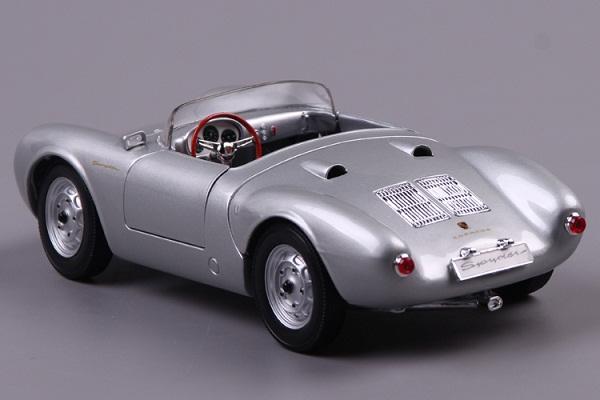 โมเดลรถ โมเดลรถเหล็ก โมเดลรถยนต์ Porsche 550A Spyder silver 3