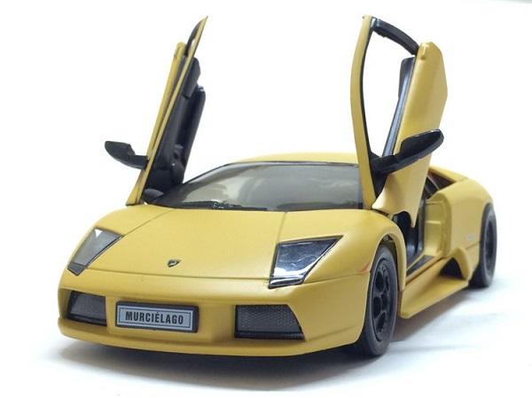 โมเดลรถ โมเดลรถยนต์ โมเดลรถเหล็ก Murcielago yellow 4