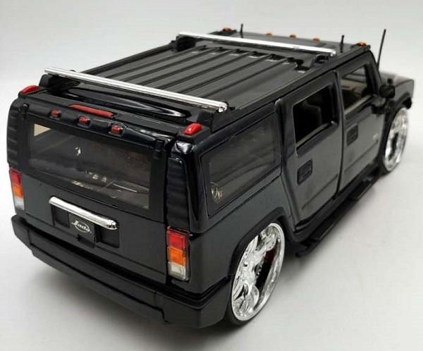 โมเดลรถเหล็ก โมเดลรถยนต์ Hummer H2 black 2