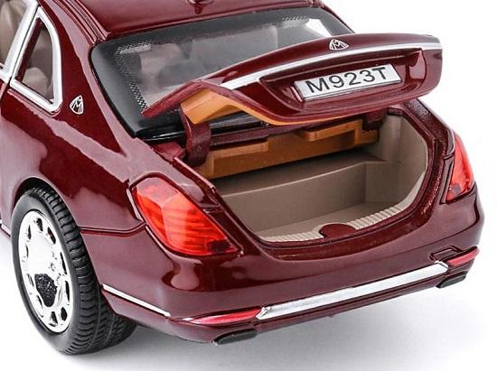 โมเดลรถเหล็ก โมเดลรถ Benz S600 red 5