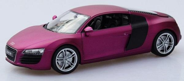 โมเดลรถ โมเดลรถเหล็ก โมเดลรถยนต์ audi r8 purple 1
