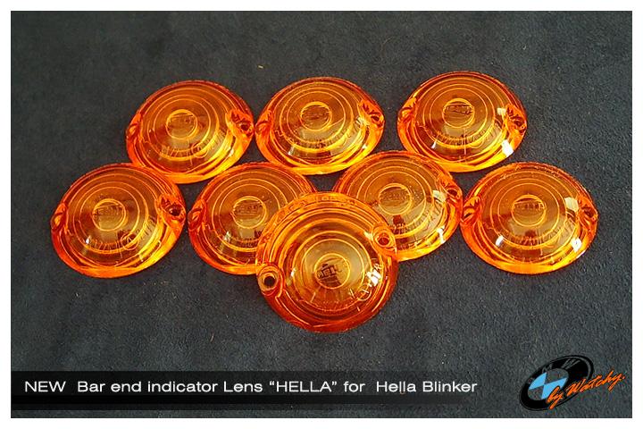 """เลนส์ไฟเลี้ยวปลายแฮนด์ ของ """"Hella"""" แท้ๆ"""