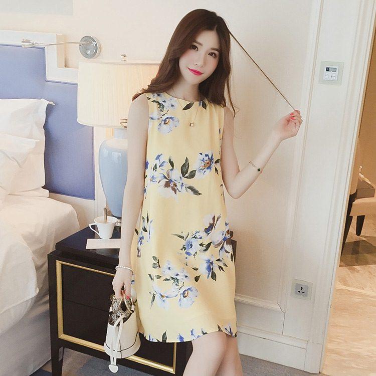 **สินค้าหมด Dress4018 ชุดเดรสทรงปล่อยลายดอกไม้สีพื้นเหลือง ซิปหลังใส่ง่าย มีซับในอย่างดีทั้งชุด ผ้าชีฟองเนื้อดีเกรดพรีเมียมมีน้ำหนักทิ้งตัวสวย งานดีผ้าสวยเกินราคา สวยจบในชุดเดียว ใส่ได้บ่อยหลายโอกาส