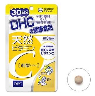 DHC Natural vitamin C 30 days เพื่อความสมดุลของสุขภาพ ป้องกันหวัด อาการแพ้อากาศ และผิวพรรณที่สดใส