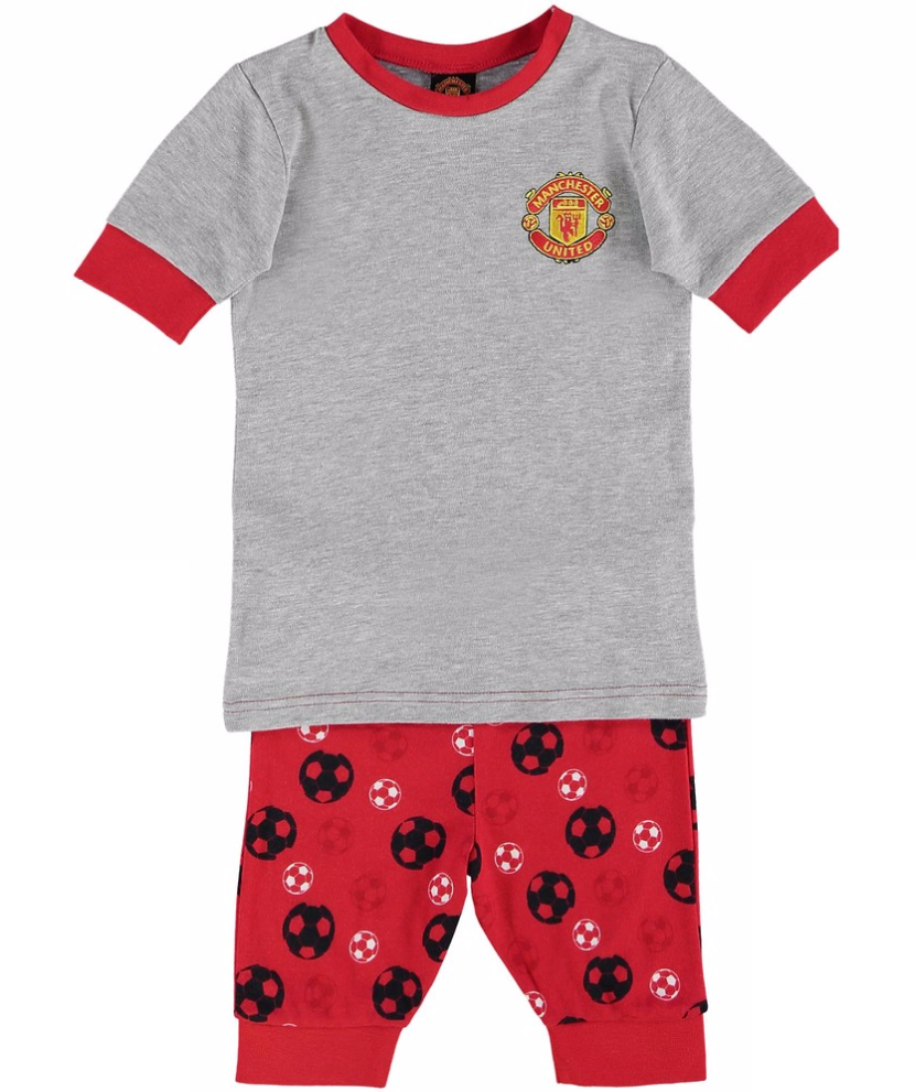 เสื้อผ้าแมนเชสเตอร์ ยูไนเต็ดของแท้ สำหรับเด็กเล็ก Manchester United Snuggle Fit Pyjamas