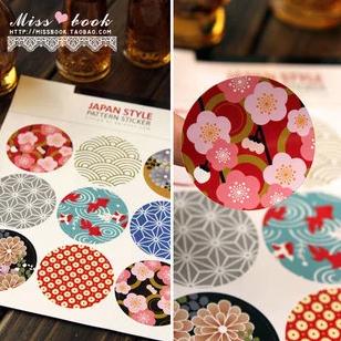 สติ๊กเกอร์เกาหลี Japan Style 1 แผ่น