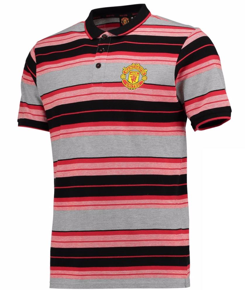 เสื้อโปโลแมนเชสเตอร์ ยูไนเต็ด Manchester United Essential Stripe Polo Shirt Multi ของแท้