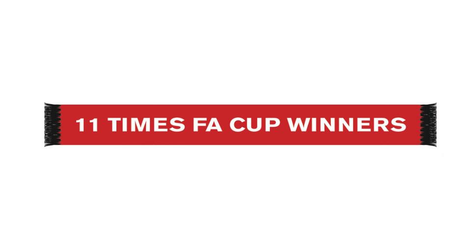 ผ้าพันคอแมนเชสเตอร์ ยูไนเต็ดของแท้ Manchester United FA Cup Winners Scarf