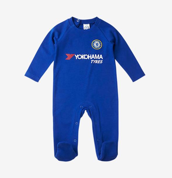 เสื้อเด็กเชลซี แบบชุดสูท Chelsea FC Baby Sleepsuit ของแท้