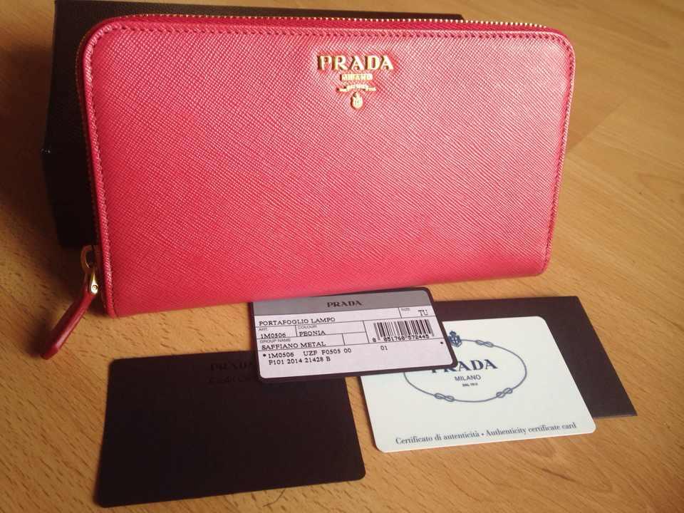 New !! Prada Saffiano Metal Zippy Wallet IM0506 PEONIA - ???????? ...