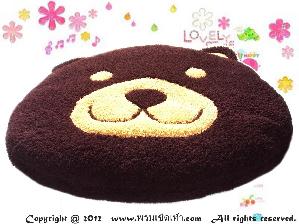 เบาะรองนั่งแฟนซี-หมี-สีน้ำตาลไหม้