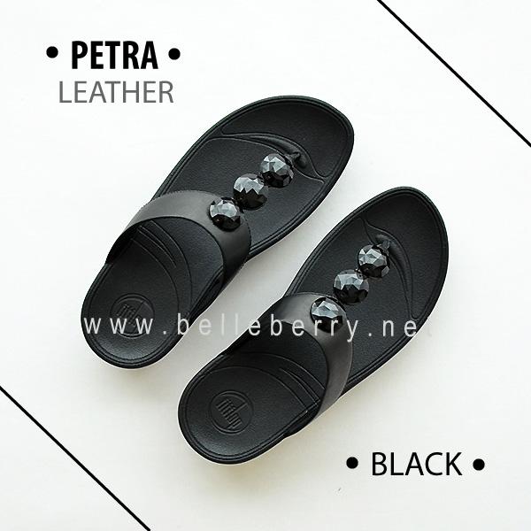 * พร้อมส่ง * FitFlop PETRA ( Leather ) : Black : Size US 5 / EU 36