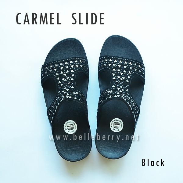 **พร้อมส่ง** FitFlop : CARMEL Slide : Black : Size US 7 / EU 38