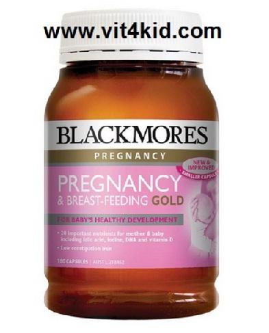 Blackmores Pregnancy&Breast Feeding อาหารเสริม16ชนิด สำหรับคุณแม่ช่วงตั้งครรภ์ และช่วงให้นมบุตร (ขวดใหญ่ 180เม็ด 3เดือน) เลิกจำหน่าย