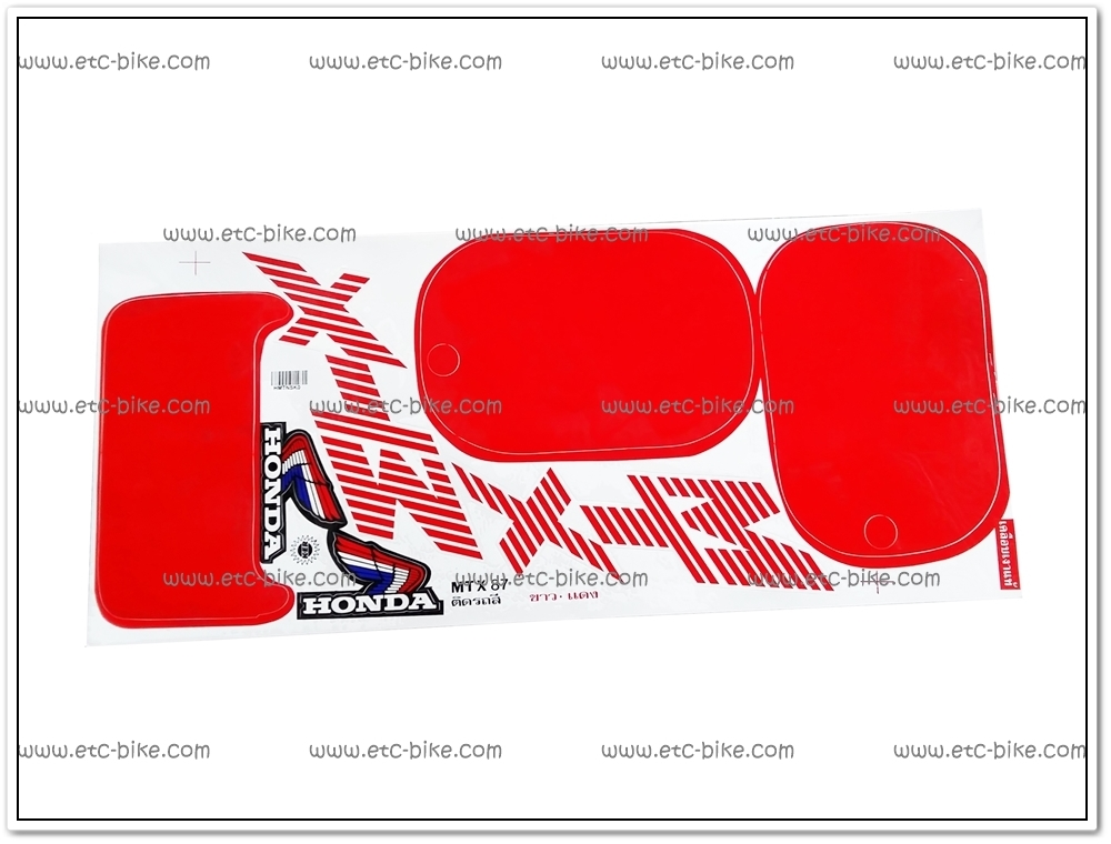 สติ๊กเกอร์ MTX ปี 87 ติดรถสีขาว-แดง