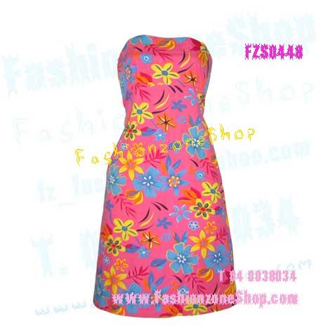 FZS0448 ColoRFuL~PinkY ใหม่! แซค ลายผ้าสั่งพิมพ์ เป็นของส่งนอกนะคะ ลายดอกสดใสพื้นสีชมพู