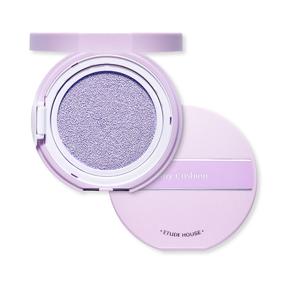 (พร้อมส่ง) Etude House Any Cushion Color Corrector SPF34 PA++ # Lavender