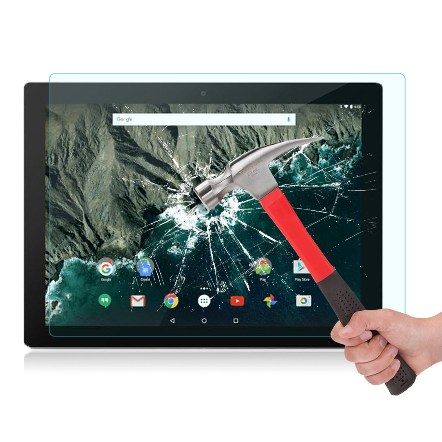 Google Pixel C Screen Protector Tempered Glass [0.26 mm] OMOTON