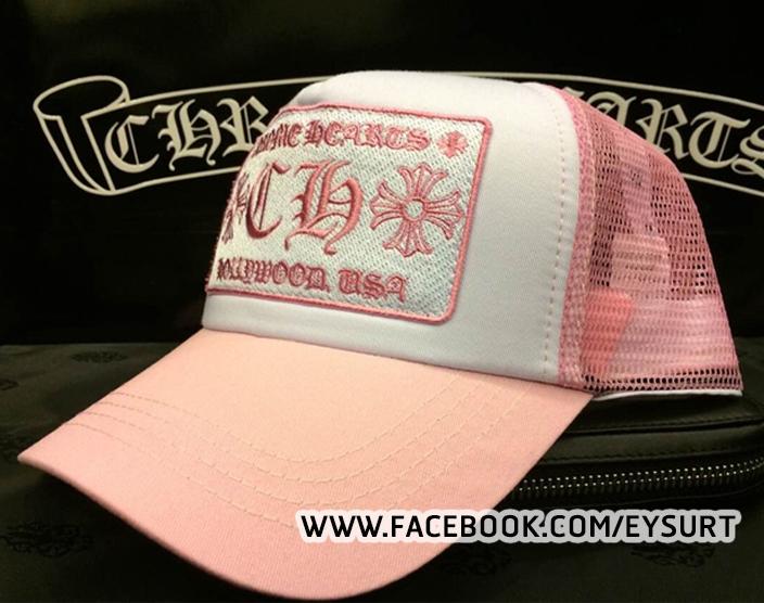 หมวกCHROME HEARTS PINK TRUCKER CAP 1:1