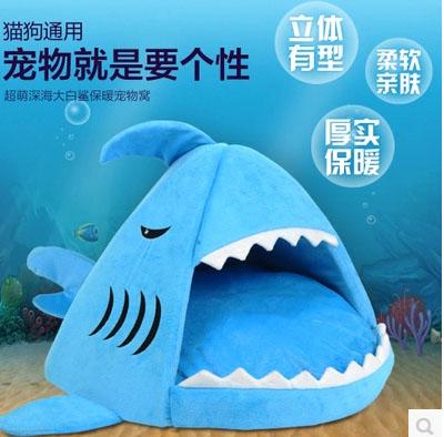 ที่นอนสัตว์เลี้ยง บ้านสัตว์เลี้ยงทรงฉลาม