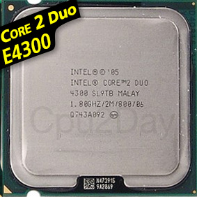 [775] Core 2 Duo E4300 (2M Cache, 1.80 GHz, 800 MHz FSB)