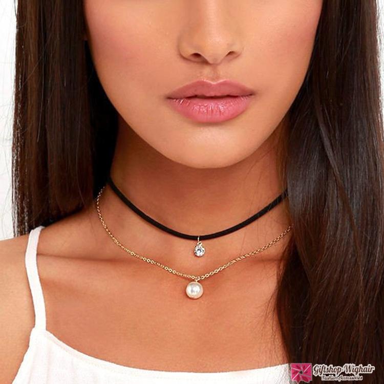 สร้อยคอ pearl necklace Diamond choker