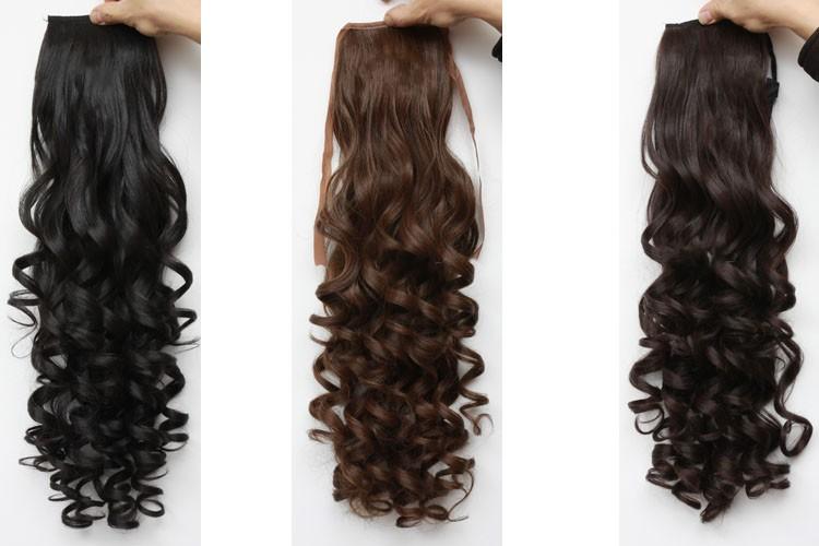 hair piece ทนความร้อนเกาหลี (สีน้ำตาลอ่อน )
