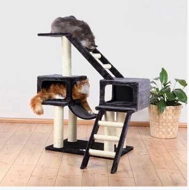 คอนโดแมว บ้านแมวเชื่อมต่อกัน มีบันไดออกกำลังกาาย สูง 109 cm