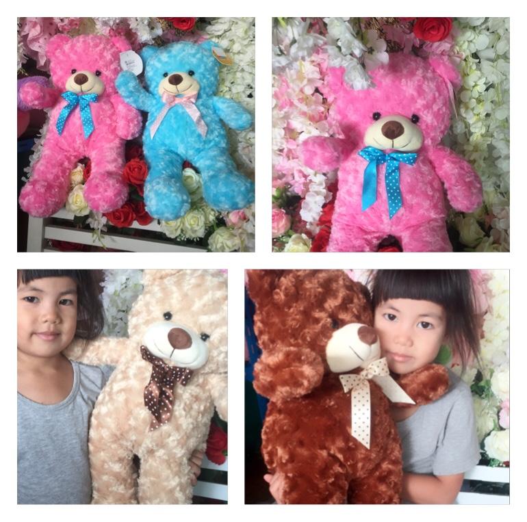 ตุ๊กตาหมีขนกุหลาบ60cm