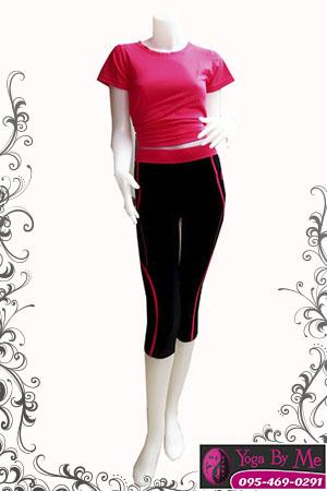 SET32-504-1 ชุดโยคะเสื้อ-กางเกง