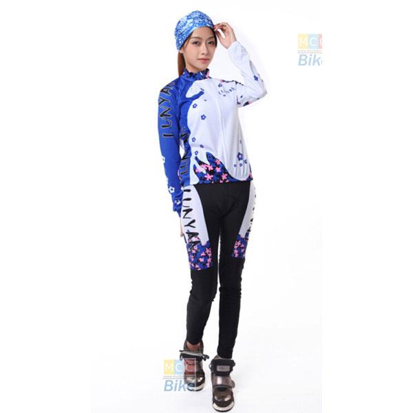 ชุดปั่นจักรยานผู้หญิง กางเกงขายาว ขนาด S
