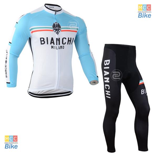 ชุดปั่นจักรยาน เสื้อปั่นจักรยาน และ กางเกงปั่นจักรยาน Bianchi ขนาด XXXL