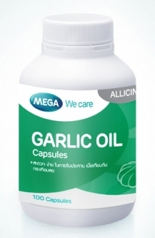 Mega We Care Garlic Oil 100 เม็ด