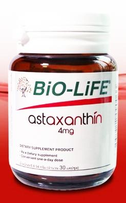 Bio-Life Astaxanthin 4mg. 30 แคปซูล