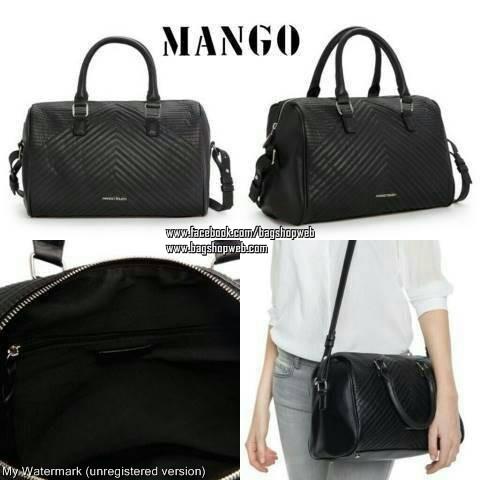 กระเป๋า Mango Quilted Bowling Bag ทรงหมอน รุ่นยอดนิยม ใช้ง่ายเข้าได้กับทุกชุด
