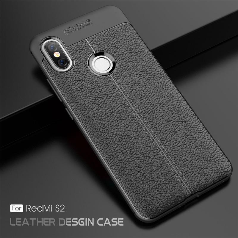เคส Xiaomi Redmi S2 ซิลิโคน TPU ลายหนัง (เคสนิ่ม)