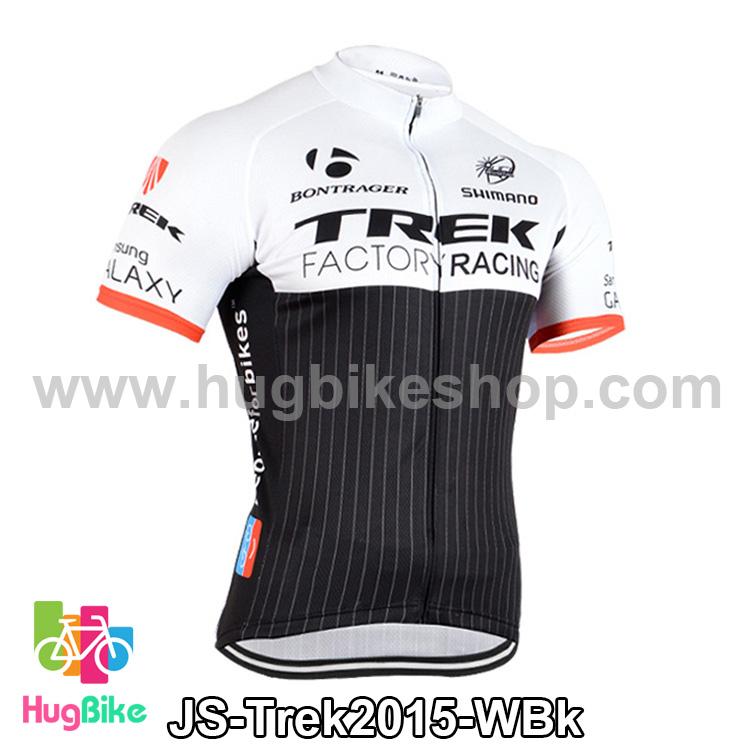 เสื้อจักรยานแขนสั้นทีม Trek 2015 สีขาวดำ สั่งจอง (Pre-order)