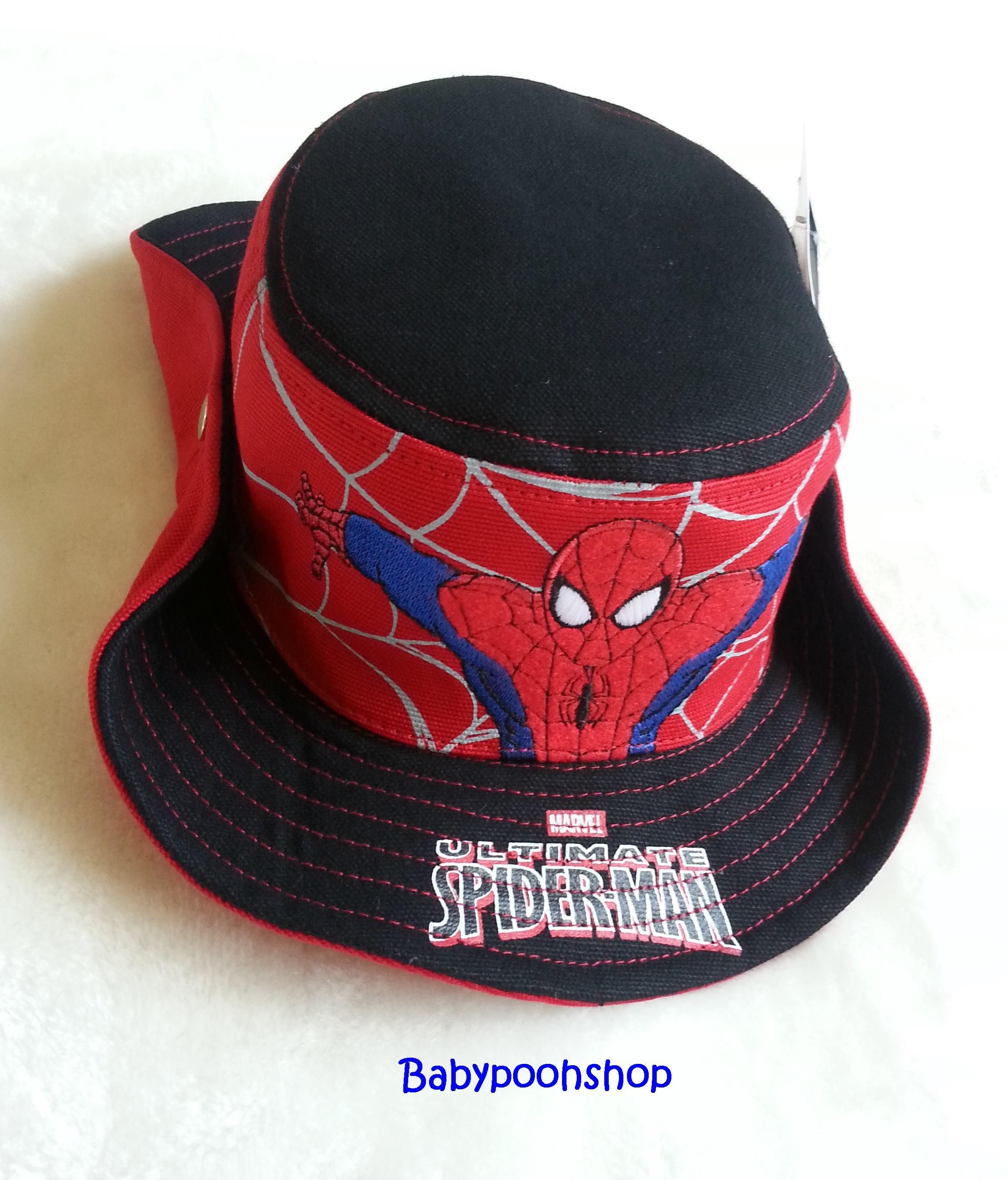 หมวก ทรง คาวบอย ลาย Spiderman สีดำ (งานลิขสิทธิ์)