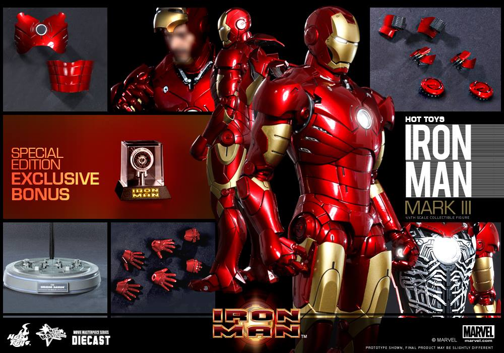 HOTTOYS MMS256D07 IRON MAN: MARK III (Diecast) SE