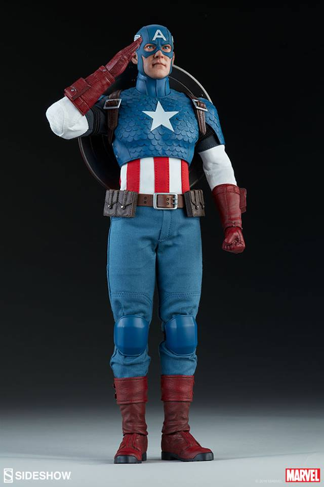 19/08/2018 Captain America Sixth Scale Figure by Sideshow Collectibles
