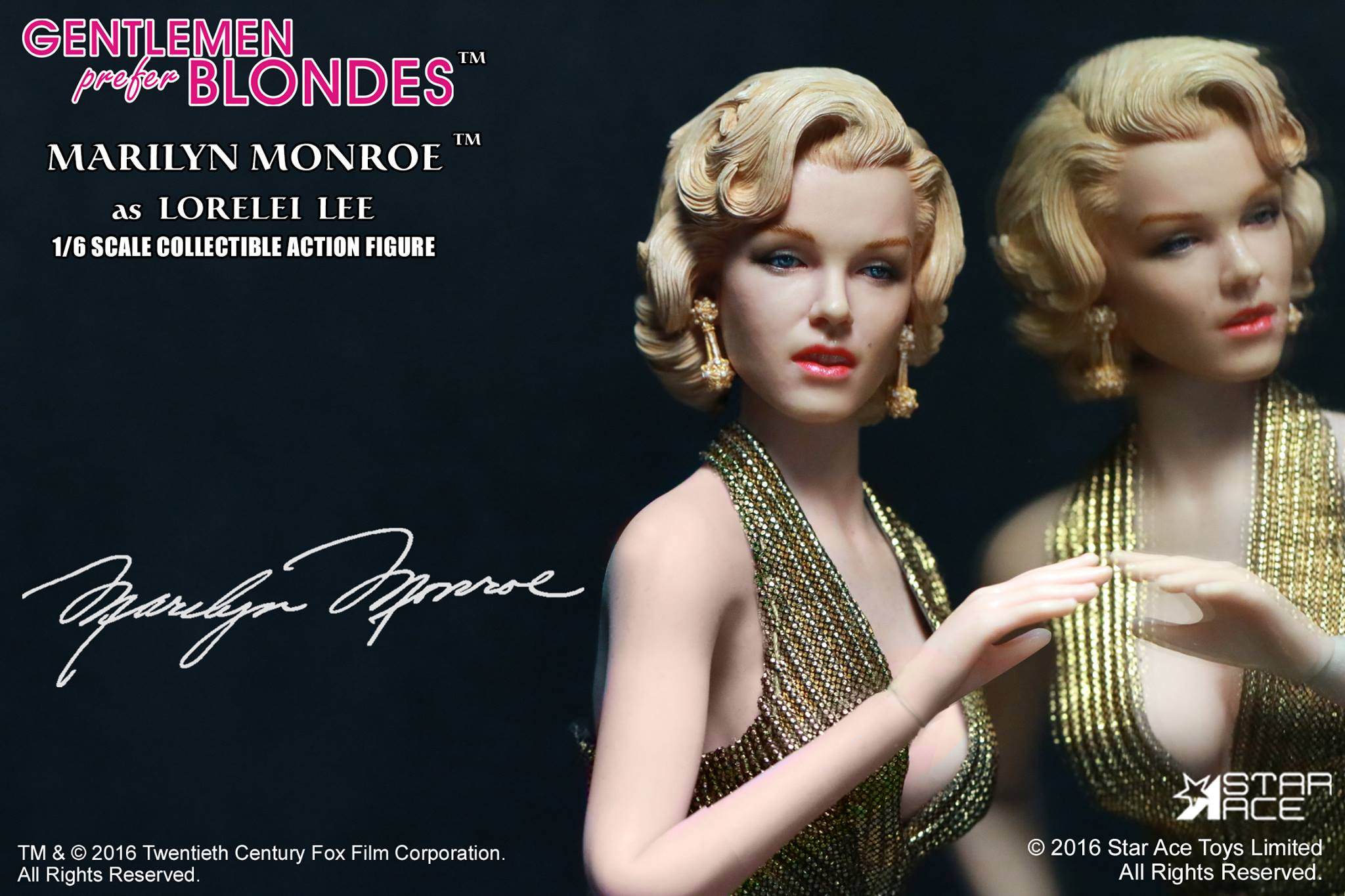 Star Ace SA0016 Marilyn Monroe Gold Dress Ver.