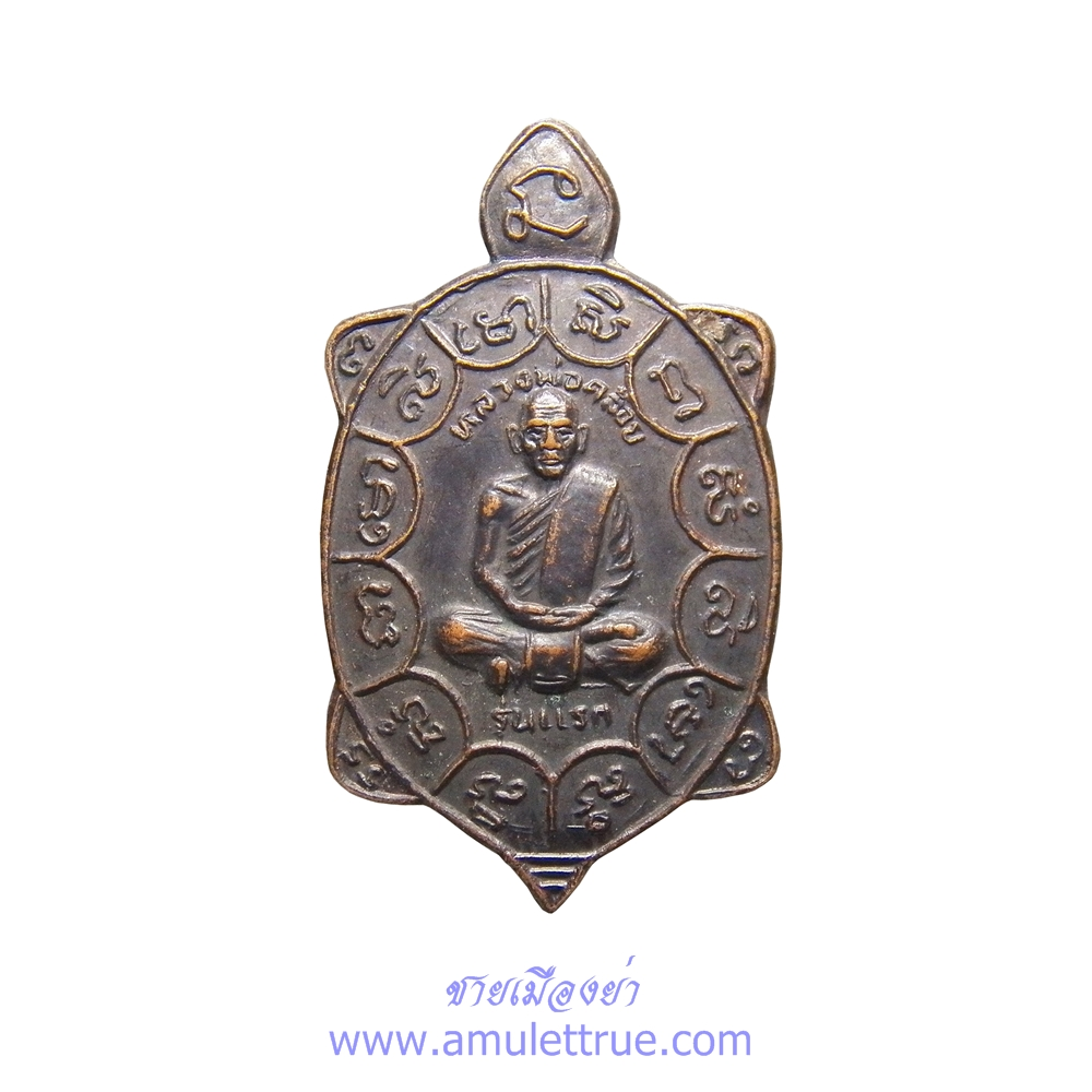เหรียญพญาเต่าเรือน รุ่นแรก หลวงพ่อคล้อย วัดถ้ำเขาเงิน จ.ชุมพร ปี2535