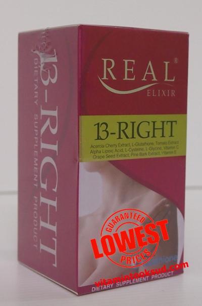 REAL ELIXIR 13-RIGHT 30 เม็ด ราคา 700 บาท ส่งฟรี