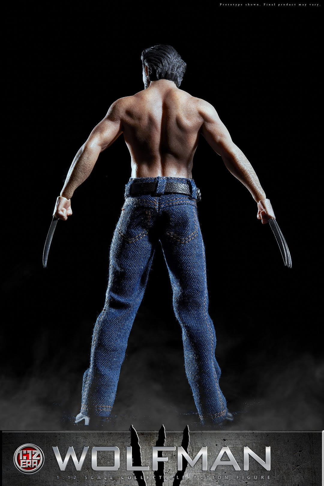 """1//6 Scale Logan Wolverine Jeans /& Belt Clothes Fit for 12/"""" Action Figure Body"""