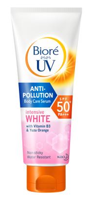 Biore UV Anti-Pollution Body Care Serum Intensive White SPF50+ PA+++ บิโอเร ยูวี แอนตี้โพลูชั่น บอดี้แคร์ เซรั่ม อินเทนซีฟไวท์ เอสพีเอฟ 50+ พีเอ+++