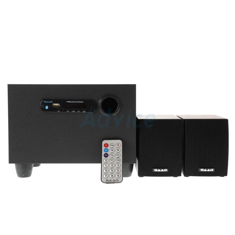 Speaker-(2.1) SAAG (Multy) + BLUETOOTH FM USB Black