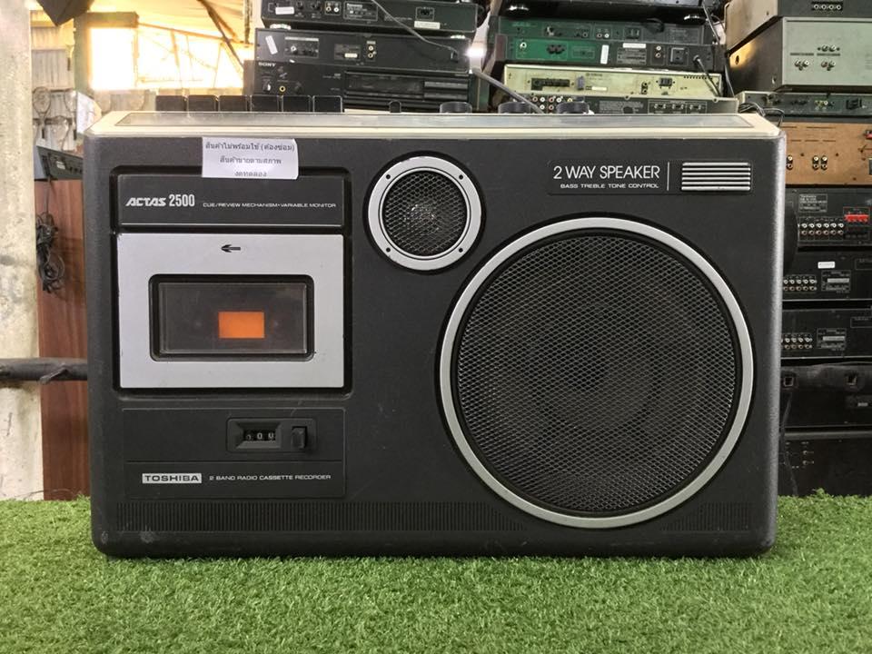 วิทยุ FM AM TOSHIBA RT-2500T สินค้าไม่พร้อมใช้งาน (ต้องซ่อม)