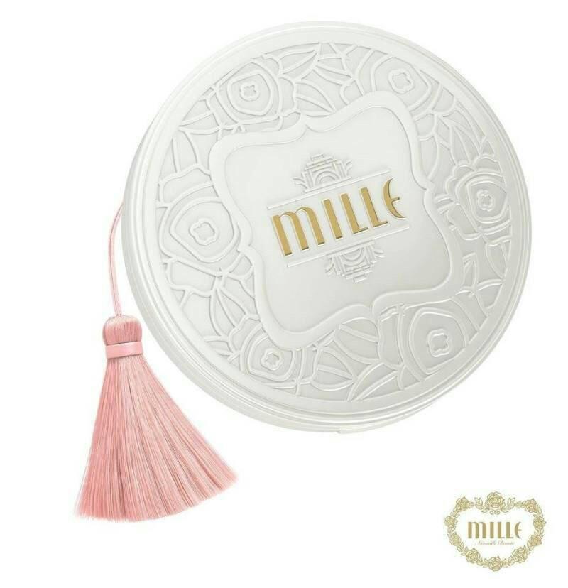 Mille Whitening Rose Powder Pact SPF 48 PA++ มิลเล่ แป้งพัฟ สูตรพิเศษจากกุหลาบ