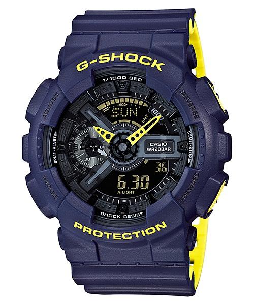 Casio G-Shock GA-110LN Layered Neon colors series รุ่น GA-110LN-2A