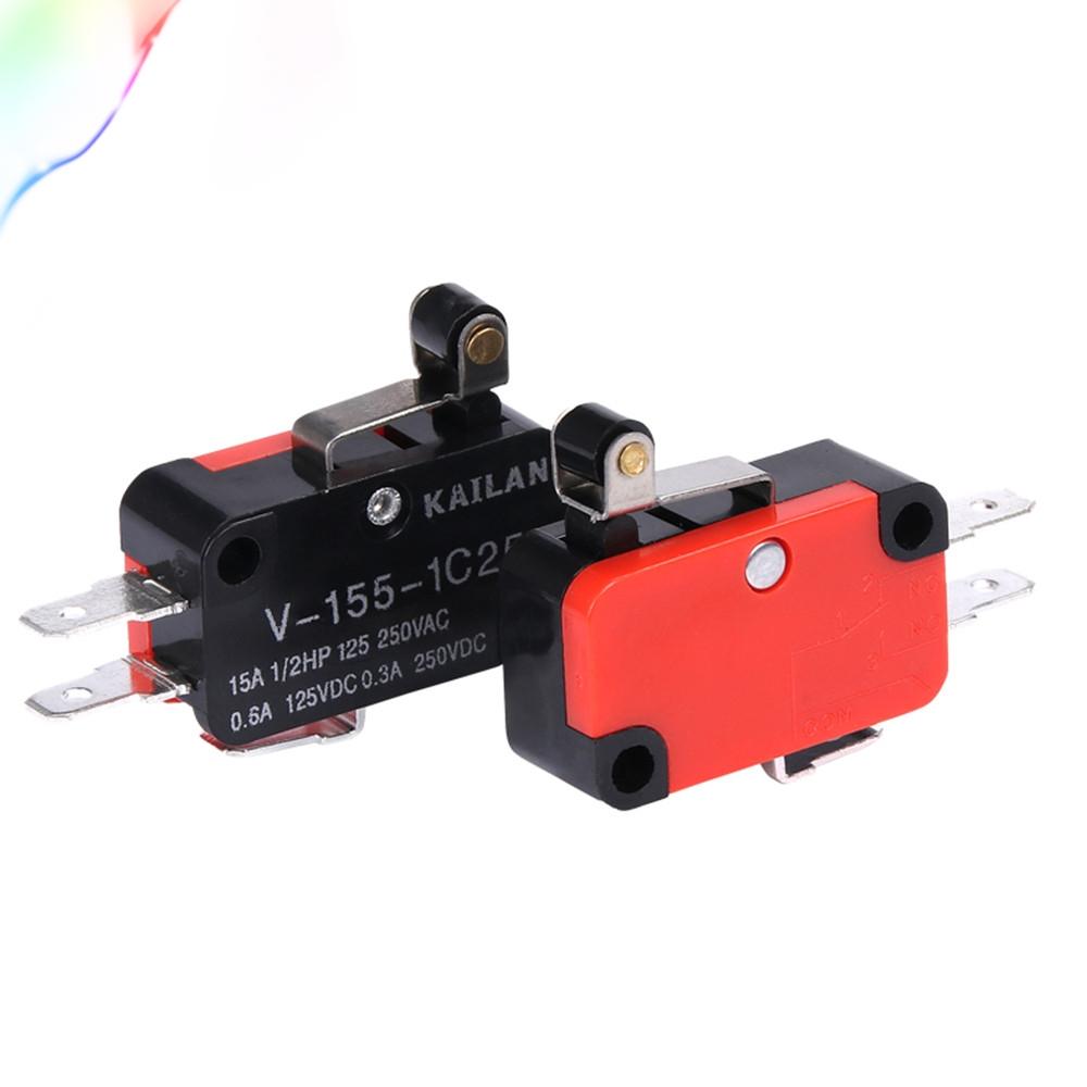 Micro Switch Limit Switch ไมโครสวิตช์ แบบสั้น 10mm พร้อมล้อลาก
